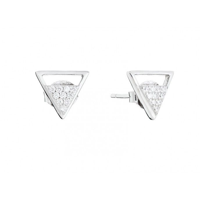 EARRINGS SILVER TRIANGLE BRIGHT