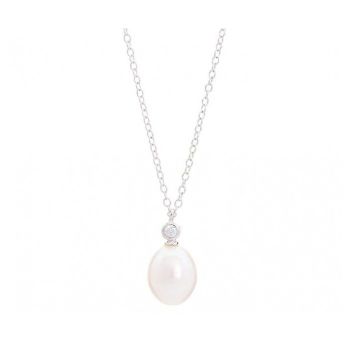 PEARL AND ZIRCON NECKLACE