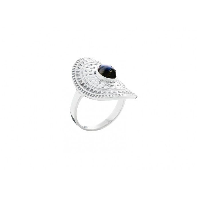 STONE OVAL RING