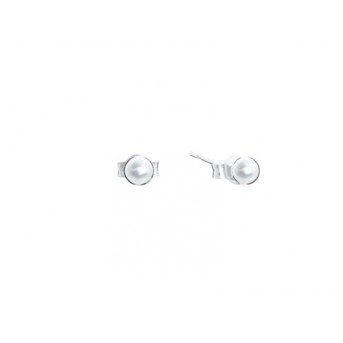 SILVER BEAD ERRING 4 MM