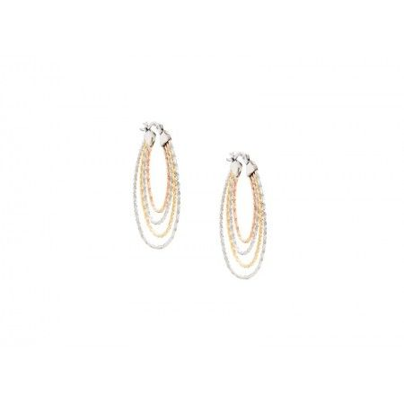 TRICOLORED OVAL HOOPS