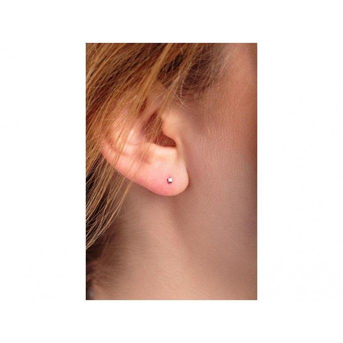 MINI STAR EARRINGS 3MM 5PTS