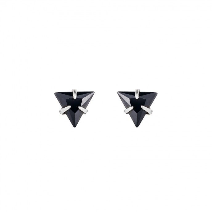 TRIANGULAR STONE EARRINGS