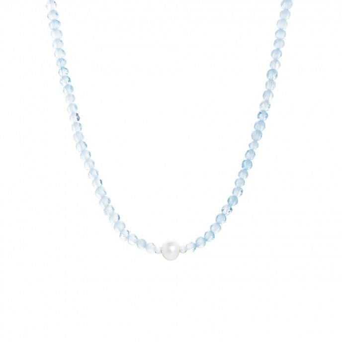 STONE AND PEARL NECKLACE