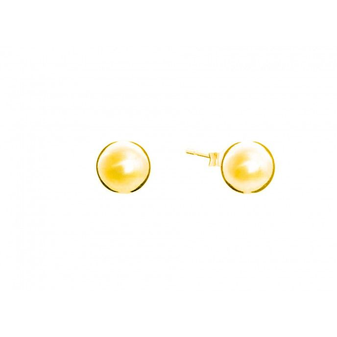 BALL EARRINGS ISA GOLDEN SILVER