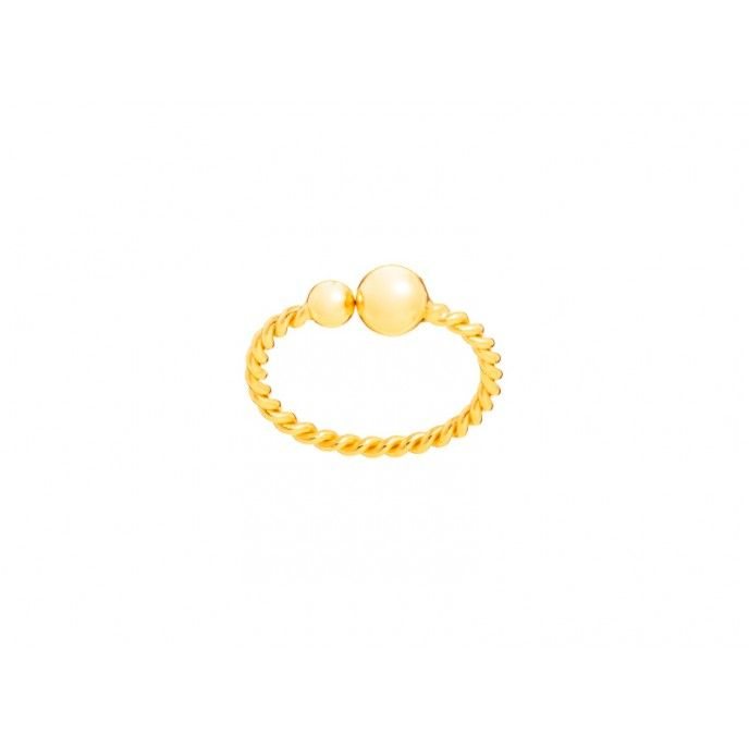 BEADS TWISTED RING