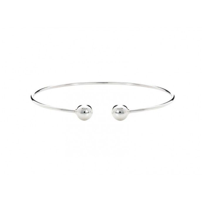 SILVER BALL BRACELET 8MM POINTS WITH THREAD FOR PENDANTS