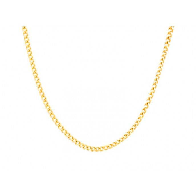 CHOKER CURB CHAIN 040 D.CUT 36 CM GOLDEN