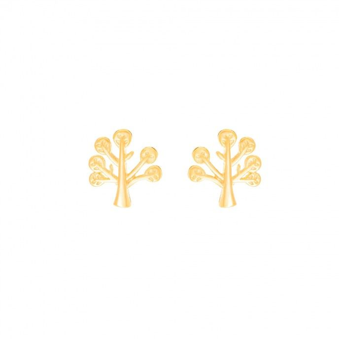 LIFE TREE EARRING 9MM SILVER SPIG