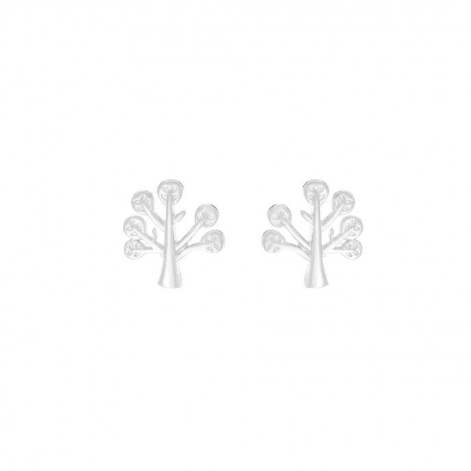 EARRINGS TREE OF LIFE 9MM SILVER SPIG
