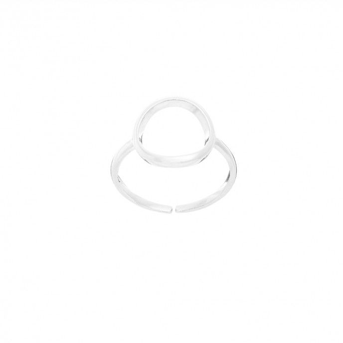 OPEN WHEEL RING14.5 * 13.5MM SILVER