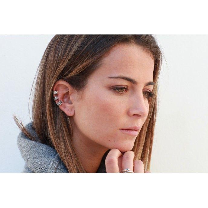 EAR CUFF PEQ 5MM SILVER UNIT