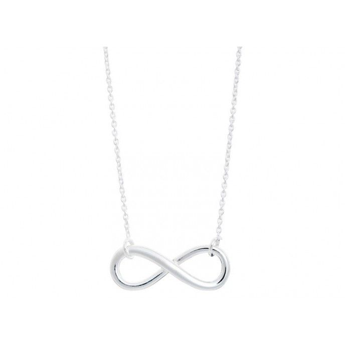 INFINIT NECKLACE 20 * 9MM MESH AND SILVER