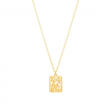 RECTANGULAR NECKLACE SYMBOLS 11MM * 15MM