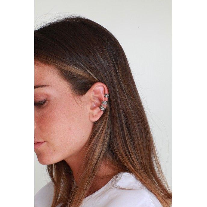 EAR CUFF 2 WAVES 5 SILVER