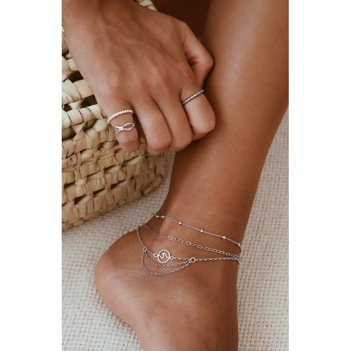 BEADS AND WIRE ANKLET