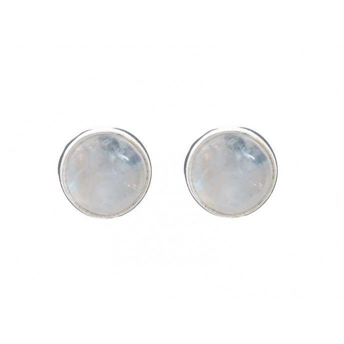9MM NATURAL STONE EARRINGS